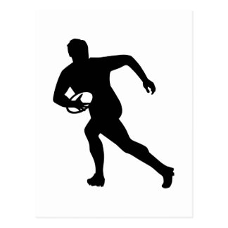 Rugby player post card