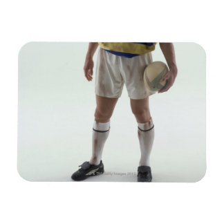 Rugby player rectangular photo magnet
