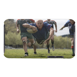 Rugby player scoring jumping on groud with ball Case-Mate iPod touch case
