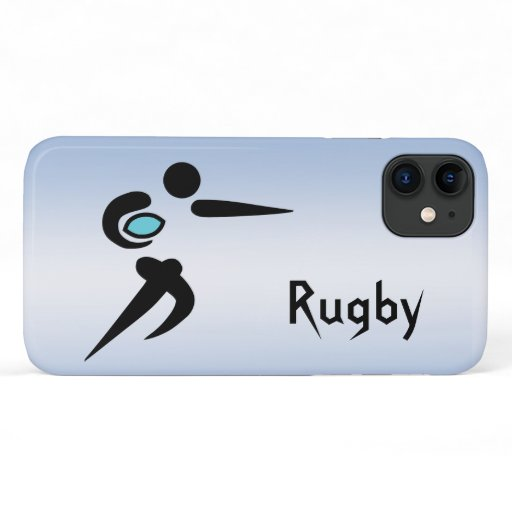 Rugby Player Scrum Ball iPhone 11 Case