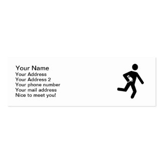 Rugby player symbol Double-Sided mini business cards (Pack of 20)