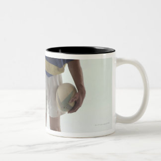 Rugby player Two-Tone coffee mug