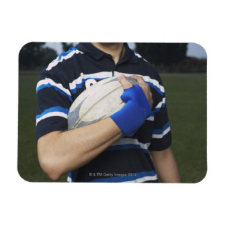 Rugby player with ball vinyl magnets