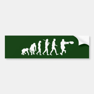 Rugby players backline passing tackling evolution car bumper sticker