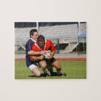Rugby players fighting for ball jigsaw puzzle