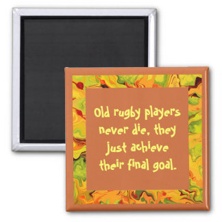 rugby players joke 2 inch square magnet