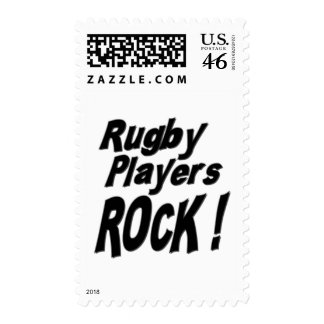 Rugby Players Rock Postage