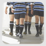 Rugby Players Square Sticker