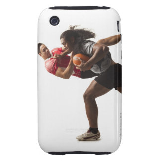 Rugby players tackling for ball tough iPhone 3 case