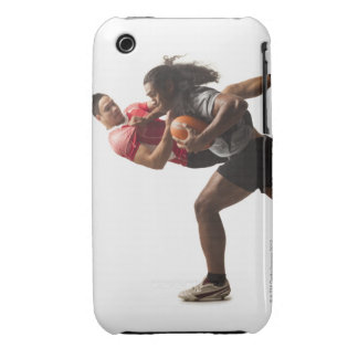 Rugby players tackling for ball iPhone 3 case