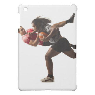Rugby players tackling for ball cover for the iPad mini