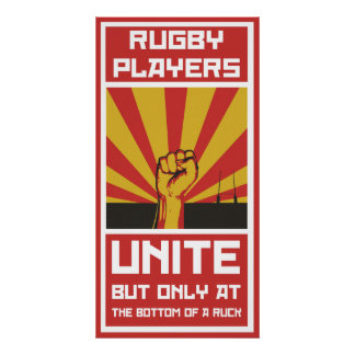 Rugby Players Unite - Poster