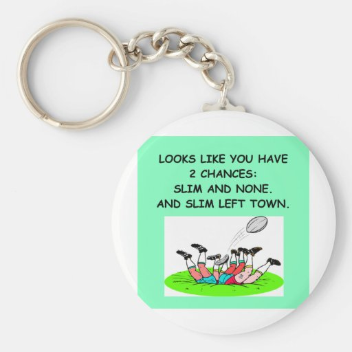 rugby.png basic round button keychain
