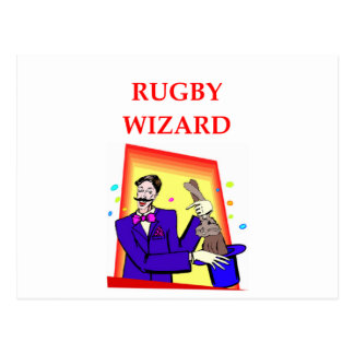 rugby postcard