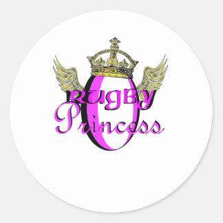 Rugby Princess Classic Round Sticker