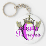 rugby princess key chains