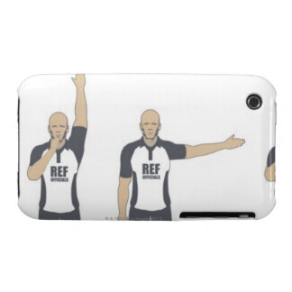 Rugby referee signalling penalty kick, free iPhone 3 cases