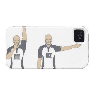 Rugby referee signalling penalty kick, free iPhone 4 covers