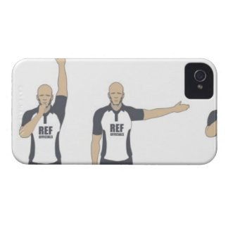 Rugby referee signalling penalty kick, free iPhone 4 case