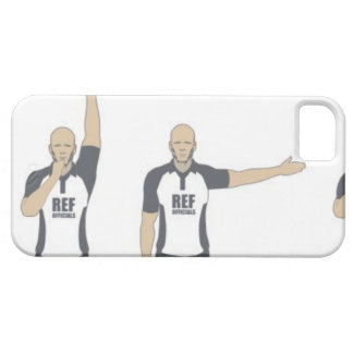 Rugby referee signalling penalty kick, free iPhone SE/5/5s case