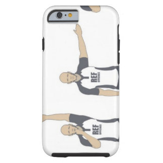 Rugby referee signalling penalty kick, free tough iPhone 6 case