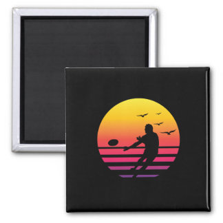 rugby retro sunset, #rugby magnet