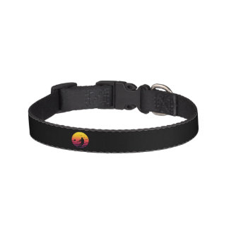 rugby retro sunset, #rugby pet collar