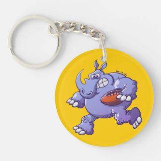 Rugby Rhinoceros Keychain