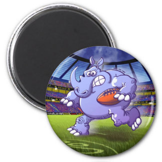 Rugby Rhinoceros Fridge Magnet