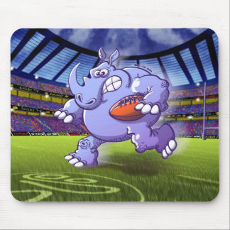 Rugby Rhinoceros Mouse Pad