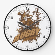 Rugby Rocks! Round Wall Clock