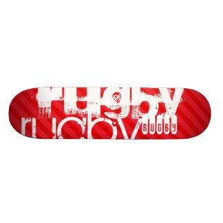 Rugby; Scarlet Red Stripes Skateboard