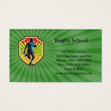 Beach Themed Rugby School Business card