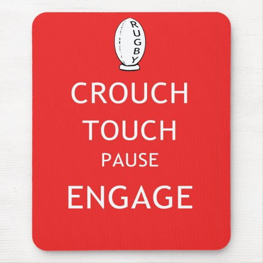 Rugby scrum instructions (old) mouse pad