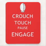 Rugby scrum instructions (old) mouse pads