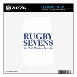 Rugby Sevens Blue Give 14 Minutes Of Your Life iPod Touch 4G Skins