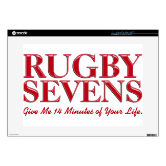"""Rugby Sevens Give 14 Minutes Of Your Life 15"""" Laptop Skin"""