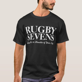 Rugby Sevens White Give 14 Minutes Of Your Life T-Shirt