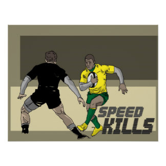 Rugby Speed Kills 1 Poster