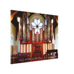 Rugby Street Methodist pipe organ Stretched Canvas Print