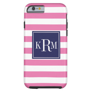 Rugby Stripes and Monogram Tough iPhone 6 Case