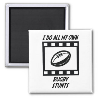 Rugby Stunts 2 Inch Square Magnet