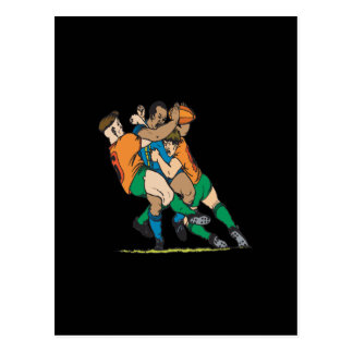 Rugby Tackle 2 Postcard