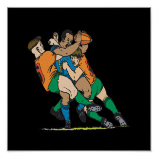 Rugby Tackle 2 Poster