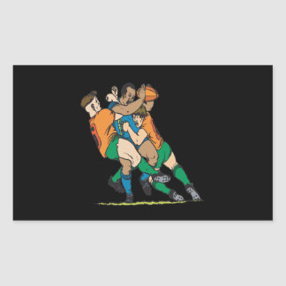 Rugby Tackle 2 Rectangular Sticker