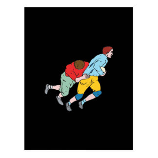 Rugby Tackle Postcard