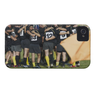 Rugby team standing in a circle iPhone 4 Case-Mate case