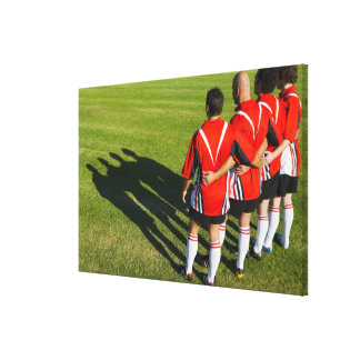 Rugby teammates canvas print