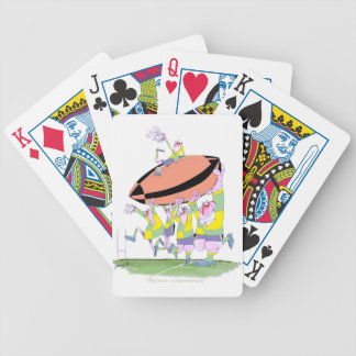 rugby teamwork, tony fernandes bicycle playing cards