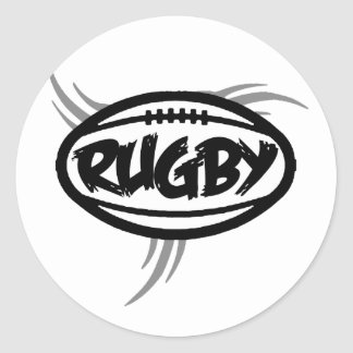 Rugby Tribal Classic Round Sticker